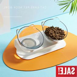 Durable Non-slip Double Bowls with Raised Stand Pet Cat Feed