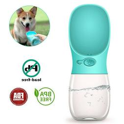 US Portable Pet Water Bottle Dispenser for Dog Cat Puppy Tra